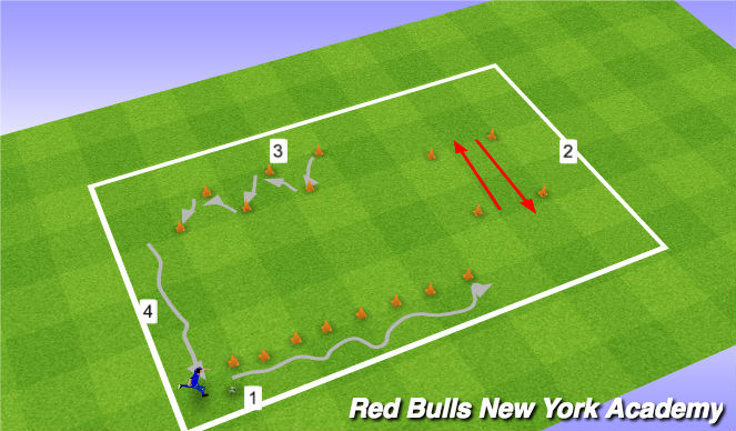 Football/Soccer Session Plan Drill (Colour): Sklls circuit