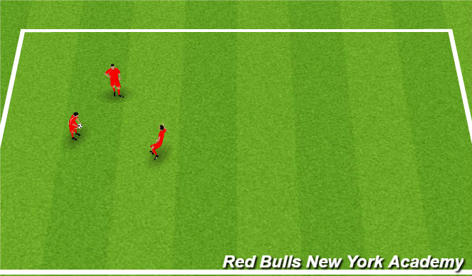 Football/Soccer Session Plan Drill (Colour): Warm up