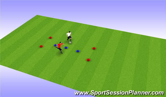 Football/Soccer Session Plan Drill (Colour): End Gates Battle
