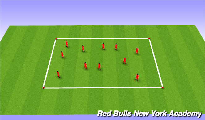 Football/Soccer Session Plan Drill (Colour): open space dribbling in tight space