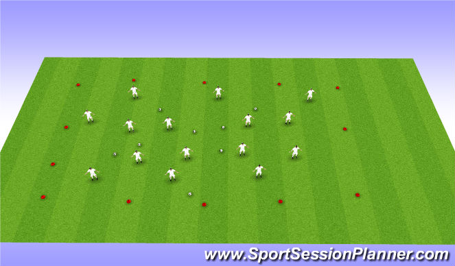 Football/Soccer Session Plan Drill (Colour): On floor drill