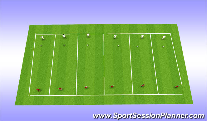 Football/Soccer Session Plan Drill (Colour): 1 v 1 Defending