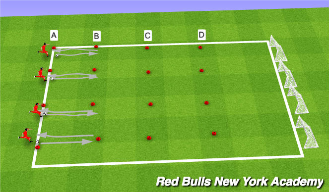Football/Soccer Session Plan Drill (Colour): Turning Relay Race