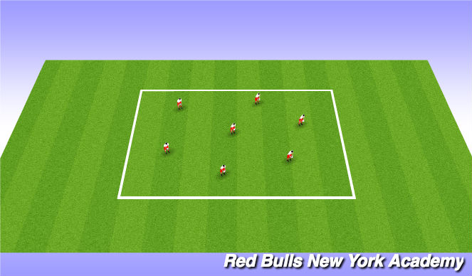 Football/Soccer Session Plan Drill (Colour): Warm Up - Juggling Challenge