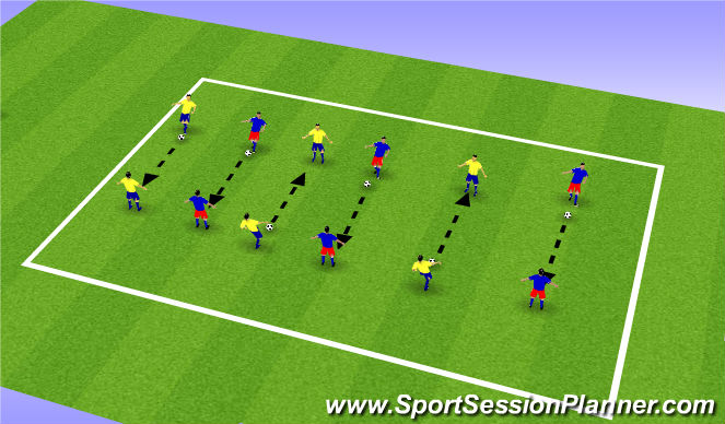 Football/Soccer Session Plan Drill (Colour): Activity - Passing Accuracy
