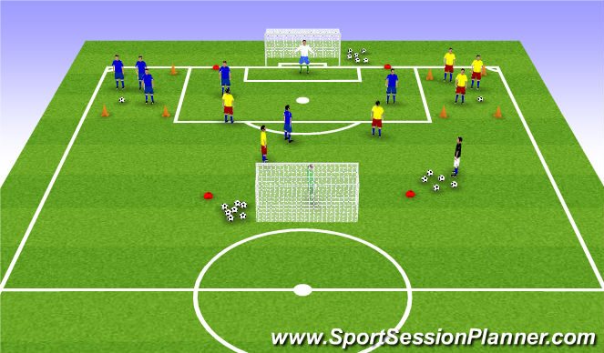 Football/Soccer Session Plan Drill (Colour): Conditiong game