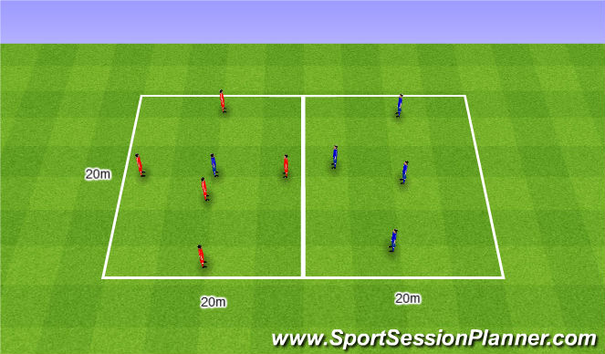 Football/Soccer Session Plan Drill (Colour): Rondo 5v1/2/3/4/5. Dziadek 5v1/2/3/4/5.