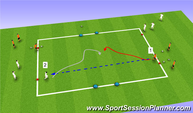 Football/Soccer Session Plan Drill (Colour): Wrong Way!
