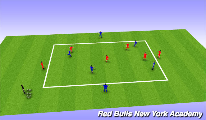 Football/Soccer Session Plan Drill (Colour): Main Theme 2 (Option 1)