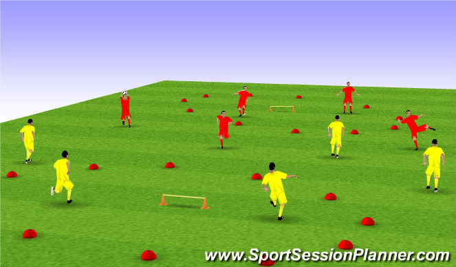 Football/Soccer Session Plan Drill (Colour): Soccer Handball Game