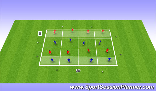 Football/Soccer Session Plan Drill (Colour): Zonal Defending Game