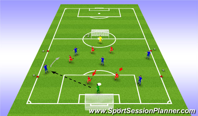 Football/Soccer Session Plan Drill (Colour): Recovery Game