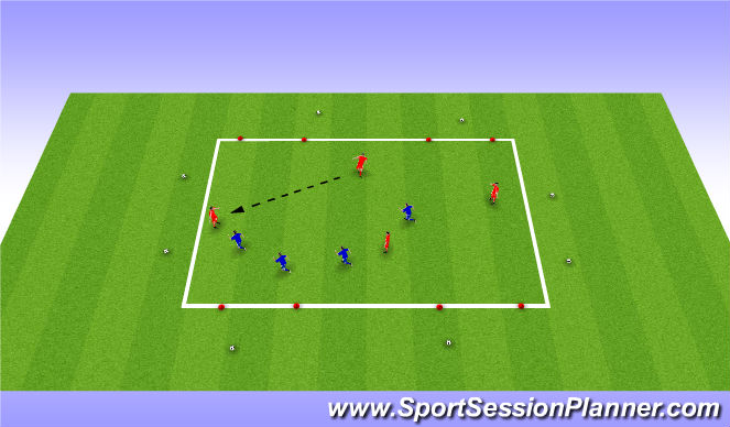 Football/Soccer Session Plan Drill (Colour): Multiple Goal Game