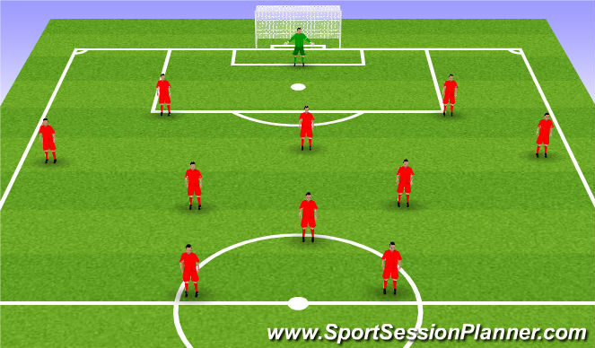 Football/Soccer Session Plan Drill (Colour): Gameplay
