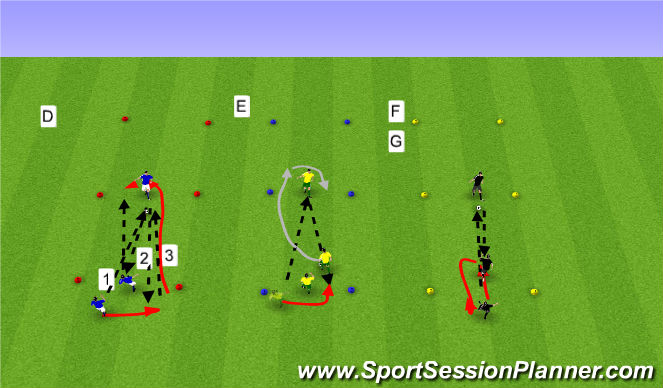 Football/Soccer Session Plan Drill (Colour): Grunntækni 2