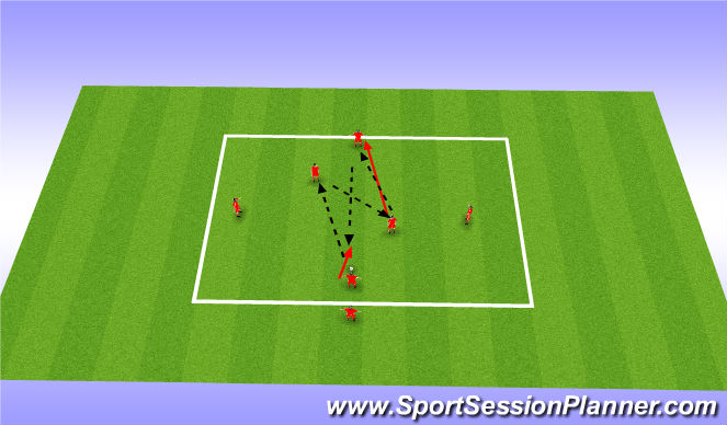 Football/Soccer Session Plan Drill (Colour): Long Target, Short,Play out Get Out - find enterng player