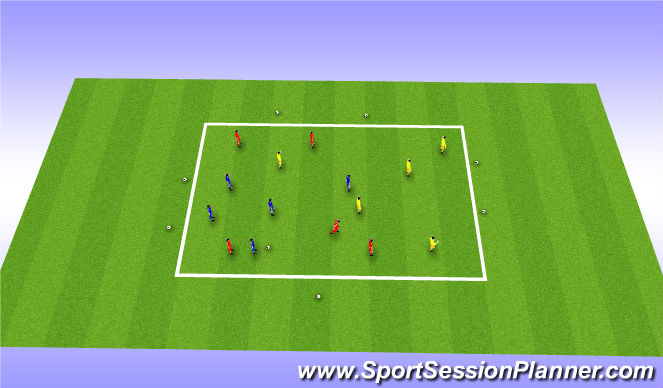 Football/Soccer Session Plan Drill (Colour): 5v5v5