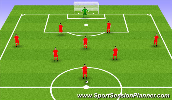 Football/Soccer Session Plan Drill (Colour): 9v9/10v10 Tournament