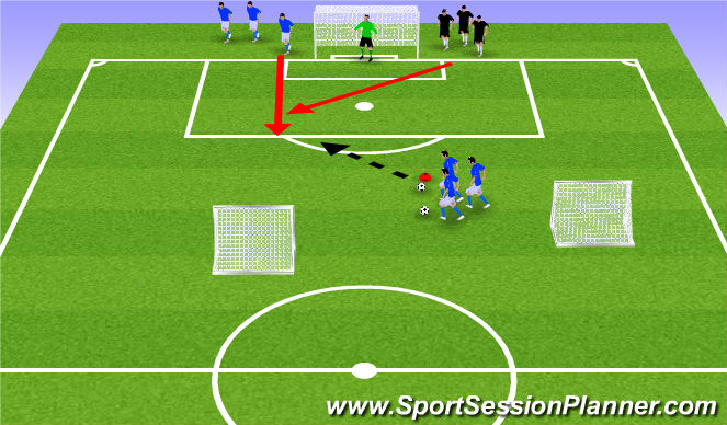 Football/Soccer Session Plan Drill (Colour): (Optional) Back to Goal Game