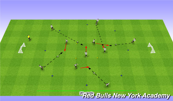 Football/Soccer Session Plan Drill (Colour): Circle Passing Warm Up