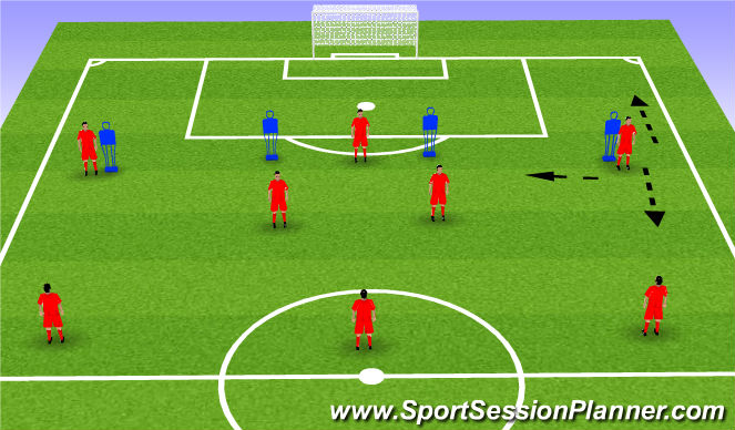 Football/Soccer Session Plan Drill (Colour): Technical - Pattern Play