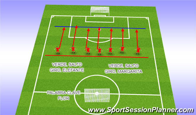 Football/Soccer Session Plan Drill (Colour): Repliegue