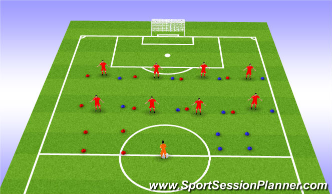 Football/Soccer Session Plan Drill (Colour): BASCULACIONES