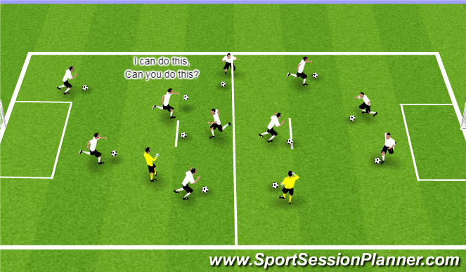 Football/Soccer Session Plan Drill (Colour): I can do this, can you do this/Madison