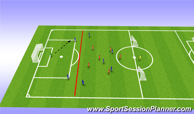 Football/Soccer Session Plan Drill (Colour): Thursday