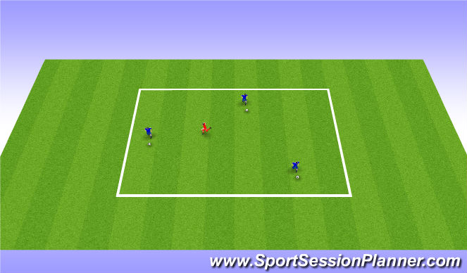Football/Soccer Session Plan Drill (Colour): 3v1 individual possession rondo