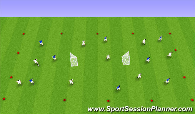 Football/Soccer Session Plan Drill (Colour): Possession - Tactical