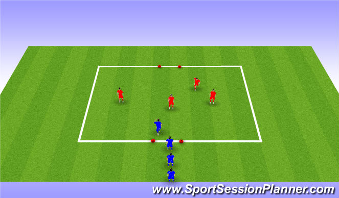 Football/Soccer Session Plan Drill (Colour): Agility tag game