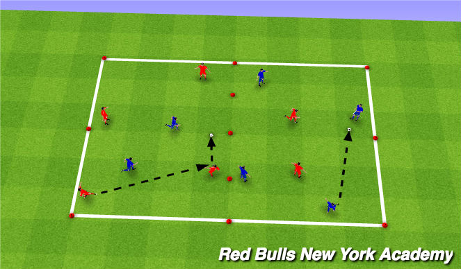 Football/Soccer Session Plan Drill (Colour): Warm - up (Keep away)