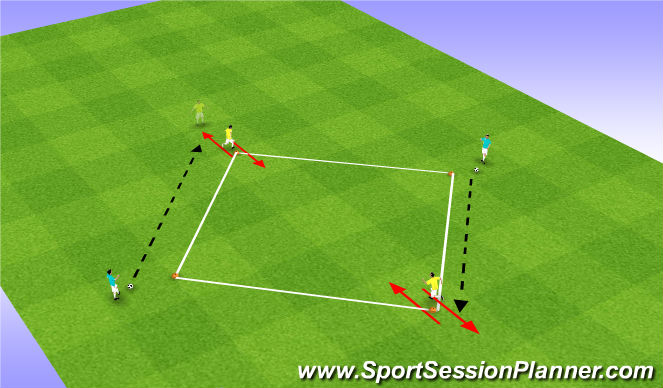 Football/Soccer Session Plan Drill (Colour): Unmarking (Technical)