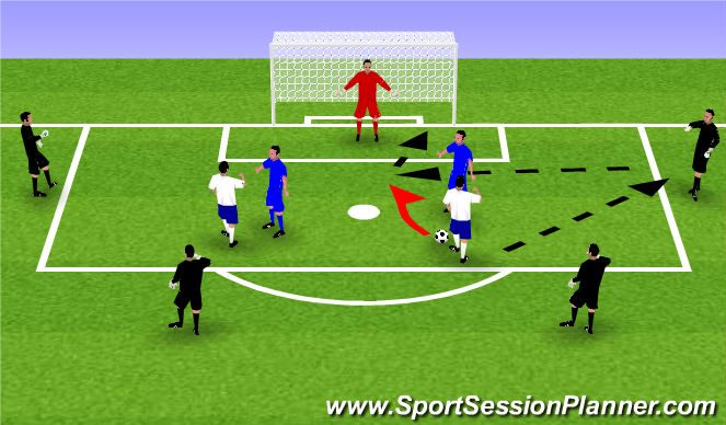 Football/Soccer Session Plan Drill (Colour): Cherry Pickers - 2v2 in box