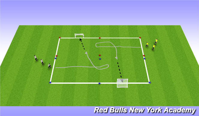 Football/Soccer Session Plan Drill (Colour): Drag Turn technique technical reps