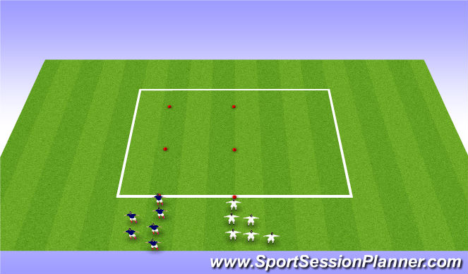 Football/Soccer Session Plan Drill (Colour): Physical Warm Up