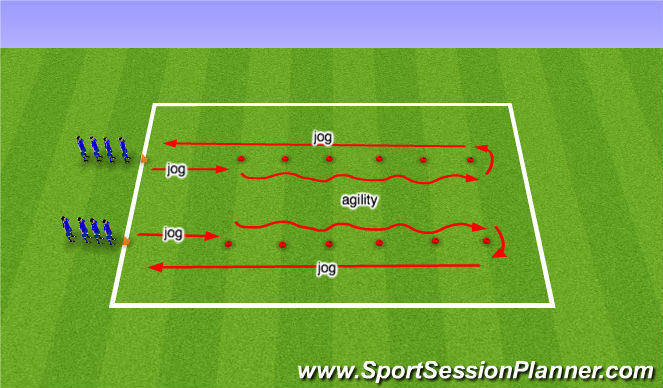 Football/Soccer Session Plan Drill (Colour): Warm Up 5