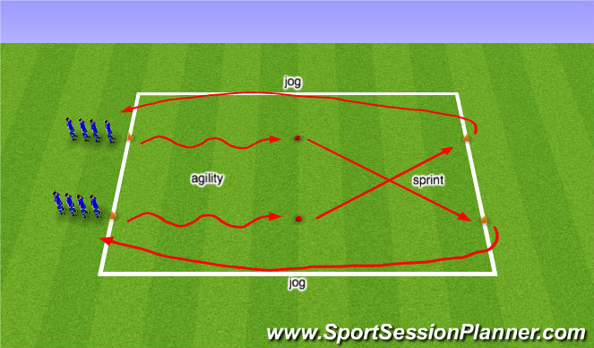 Football/Soccer Session Plan Drill (Colour): Warm Up 6