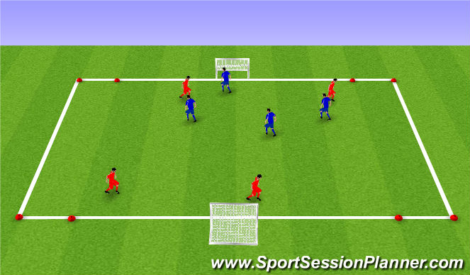 Football/Soccer Session Plan Drill (Colour): Wide SSG