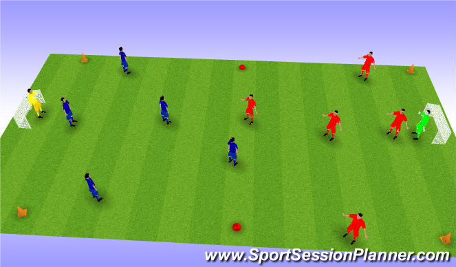 Football/Soccer Session Plan Drill (Colour): SSG Final