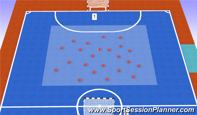 Futsal Session Plan Drill (Colour): Conduccion atencion