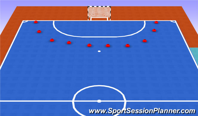 Futsal Session Plan Drill (Colour): Gol portero