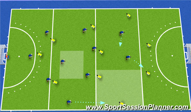 Hockey Session Plan Drill (Colour): press 1