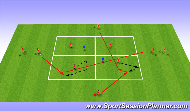 Football/Soccer Session Plan Drill (Colour): Passningspel - Spelbarhet U14