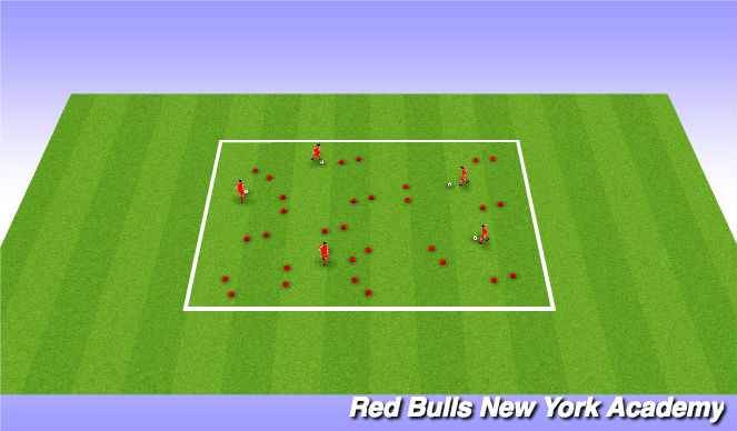 Football/Soccer Session Plan Drill (Colour): Gate Explorers Game