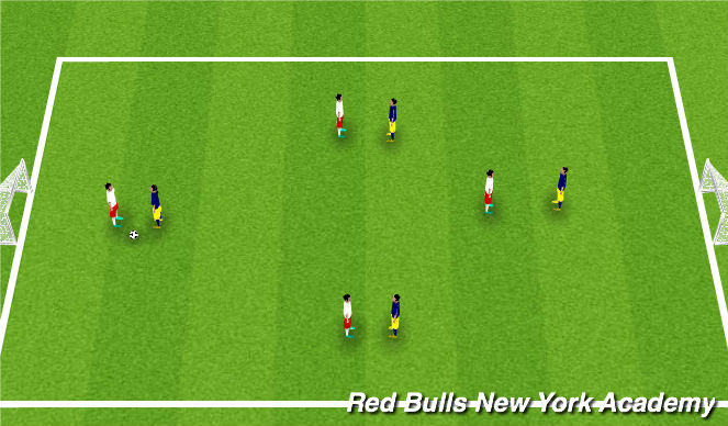 Football/Soccer Session Plan Drill (Colour): Conditioned game/free play