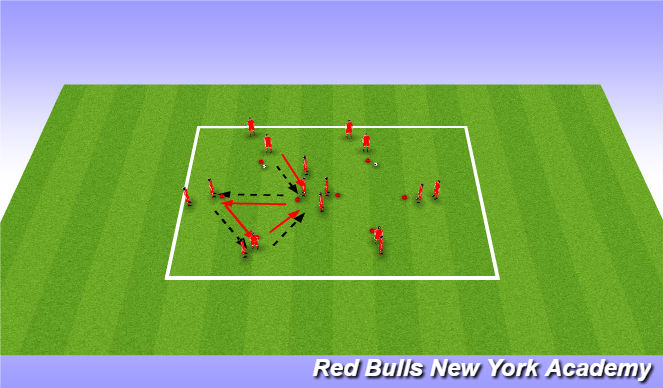 Football/Soccer Session Plan Drill (Colour): Diamond passing and follow your pass