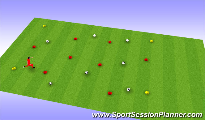 Football/Soccer Session Plan Drill (Colour): U6 Warm-up #3