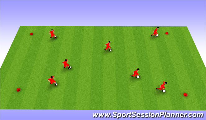 Football/Soccer Session Plan Drill (Colour): U6 Technique #3